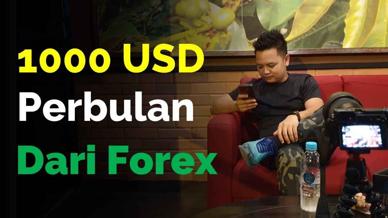 1000 USD PERBULAN DARI FOREX Butuh Modal Berapa