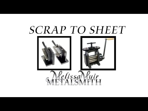 How To Melt and Roll Out an Ingot With Scrap Silver
