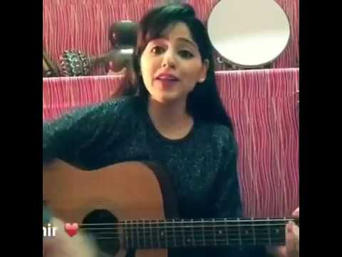 Rakhli Pyar Naal on guitar by a girl Must watch
