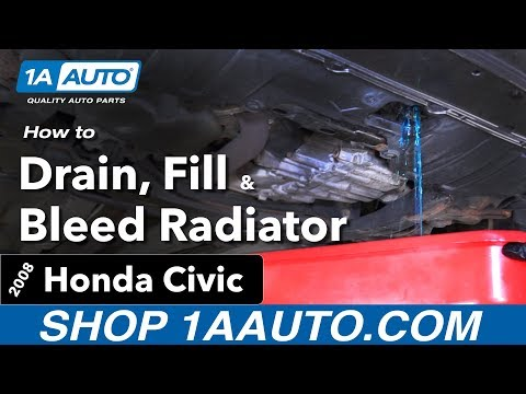 How To Drain, Fill And Bleed Radiator 05-11 Honda Civic