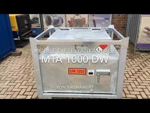 Mobile Dieseltankanlage MTA1000DW | BaumaWert GmbH