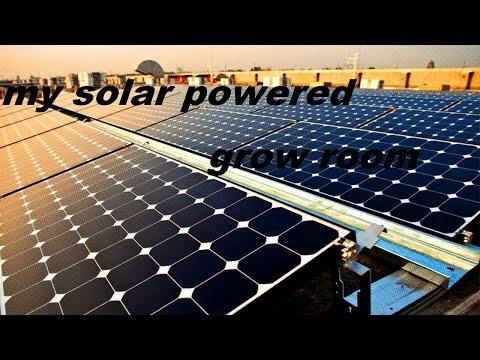 Solar powered grow room test