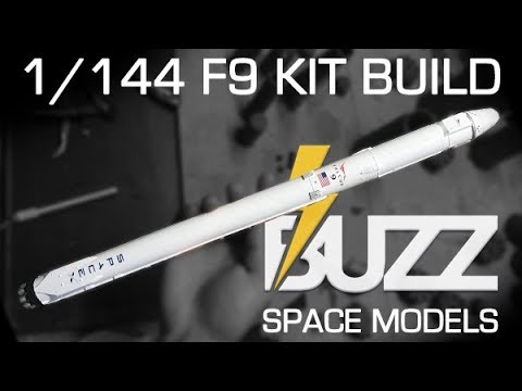 BUZZ Space Models - 1/144 scale Falcon 9 kit assembly