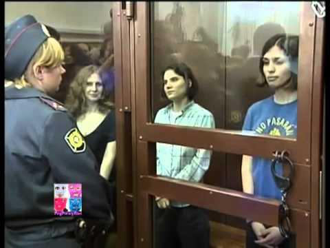 Pussy Riot trial Nadezhda Tolokonnikova Maria Alyokhina Yekaterina Samutsevich trial Free Pussy Riot