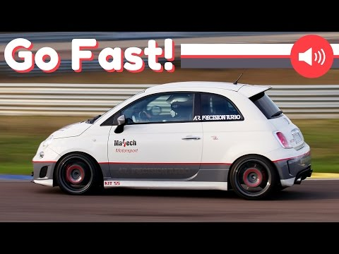 260 HP Fiat 500 Abarth by AR Precision Turbo & Mattech Motorsport - On-Board & Super Power!