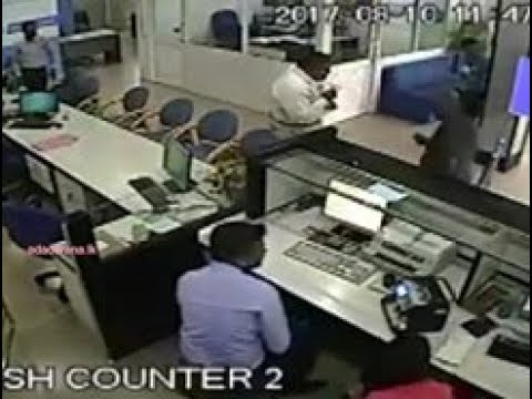 CCTV footage of Attidiya bank robbery