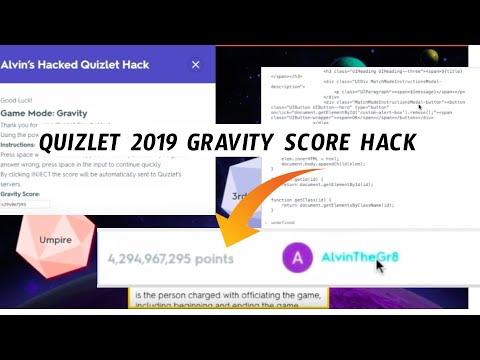 Working- Quizlet Gravity Score Hack! (2019) - YouTube