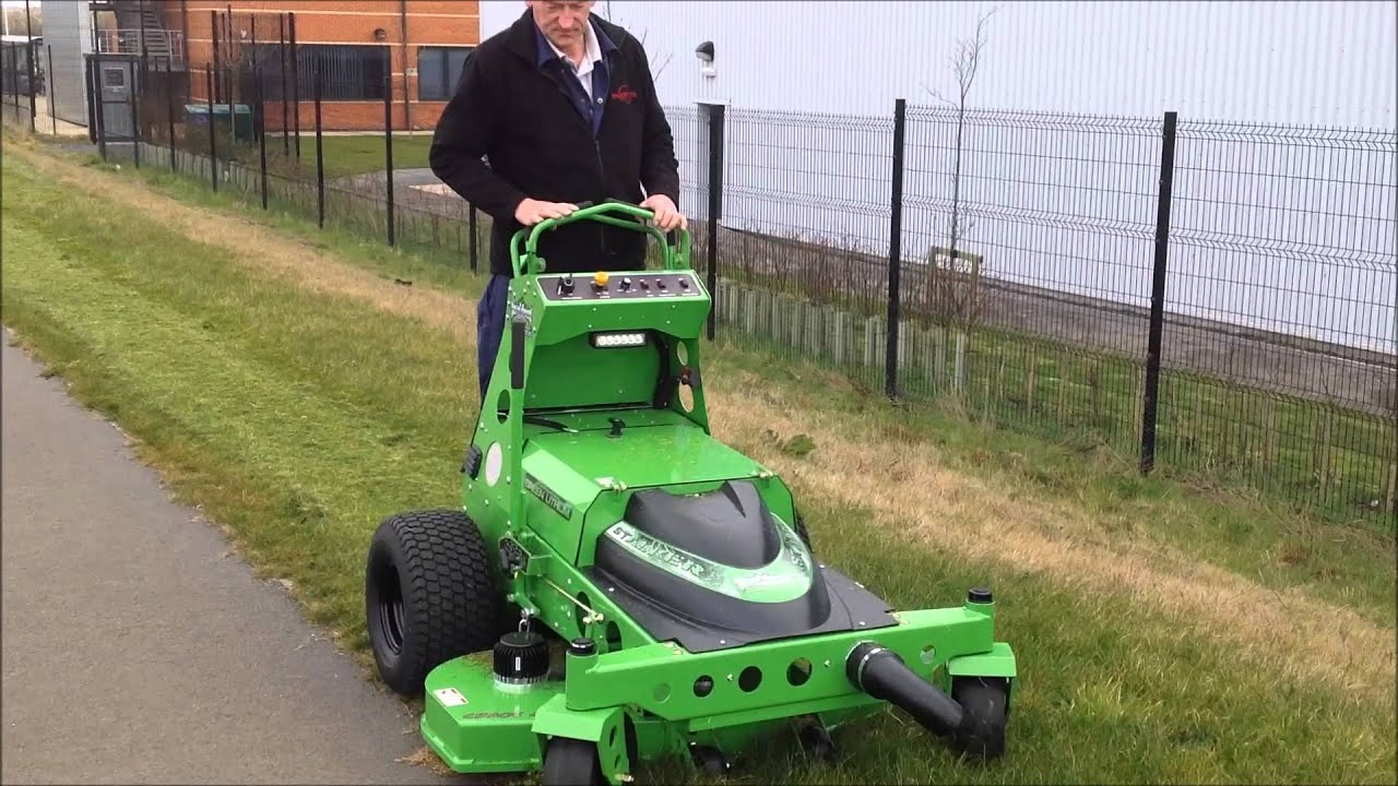 Sk48 Stalker Mean Green Electric Stand On Mower From