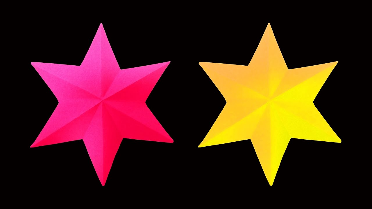 How to make a beautiful and simple 3d paper star very for How to make 3d paper stars easy