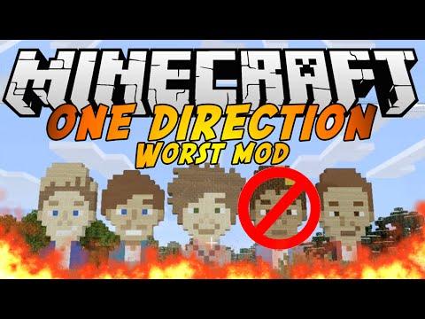 WORST MOD in Minecraft: ONE DIRECTION MOD - Mod Brutte
