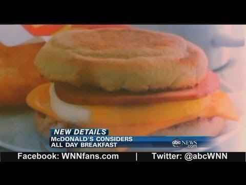 McDonalds to Consider All Day Breakfast Menu?