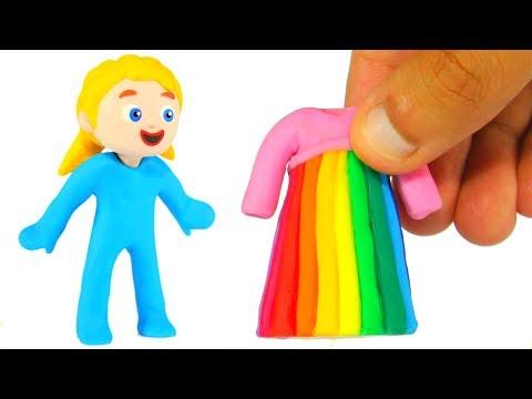 LITTLE PRINCESS NEW RAINBOW DRESS 鉂� SUPERHERO PLAY DOH CARTOONS FOR KIDS