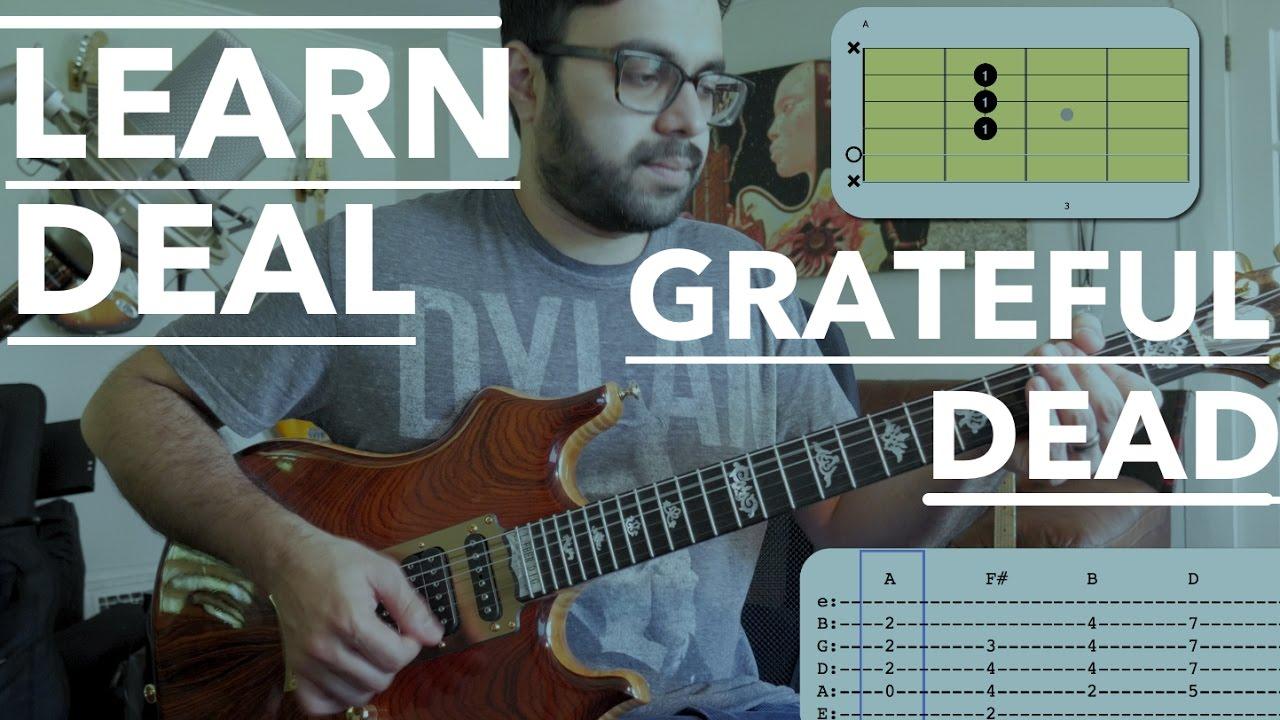 Deal Grateful Dead Guitar Lesson Beginner Jerry Garcia Style