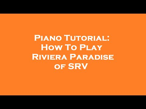 Piano Tutorial | How To Play Riviera Paradise of Stevie Ray Vaughan | Tam Ogen