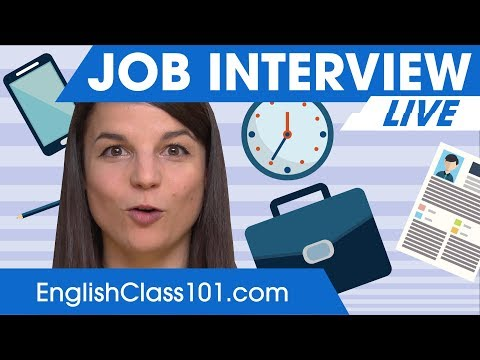 What to say at your job interview? English Phrases & Tips!