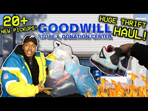 FINDING OG JORDANS & VINTAGE HEAT AT THE THRIFT! 6 BAGS! OVER 20 NEW PICKUPS! (Trip To The Thrift)