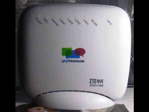 как настроить wifi на модеме zxhn h108n