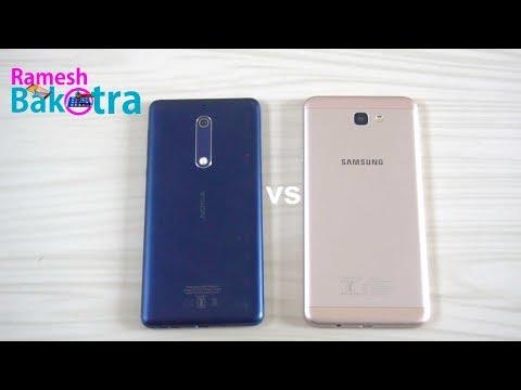 Nokia 5 vs Samsung Galaxy j7 Prime Speed Test Comparison