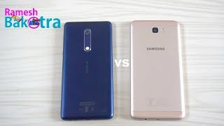 Nokia 5 vs Samsung Galaxy j7 Prime Speed Test Comparison
