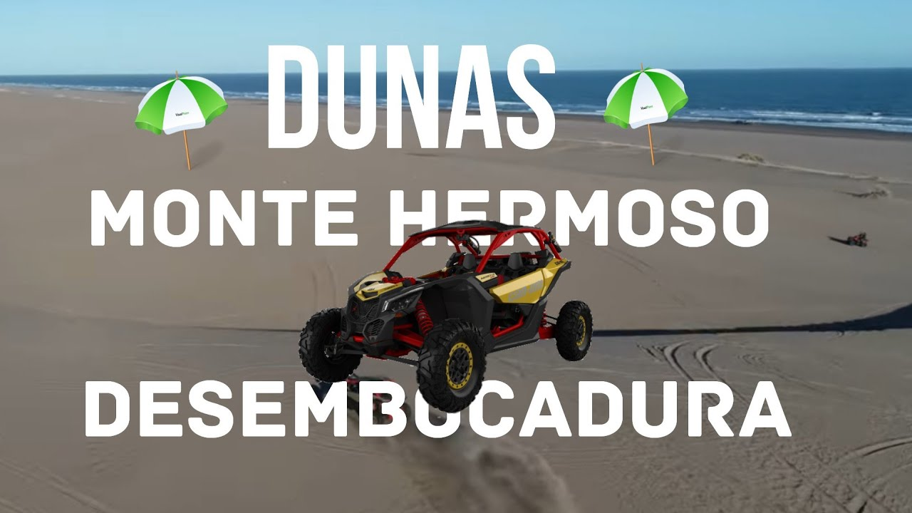 Dunas desde el aire. Monte hermoso / Desembocadura. Can Am Maverick xrs turbo 172hp