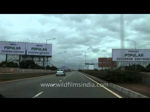Open road leading towards Bengaluru airport