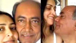 Congress Leader Digvijay Singh Weds Actress Amrita Rai | Hot Bollywood News | Rajya Sabha TV Anchor