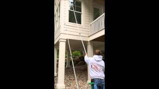 K.O.D.A Home Services 2nd Story Window Cleaning Tutorial
