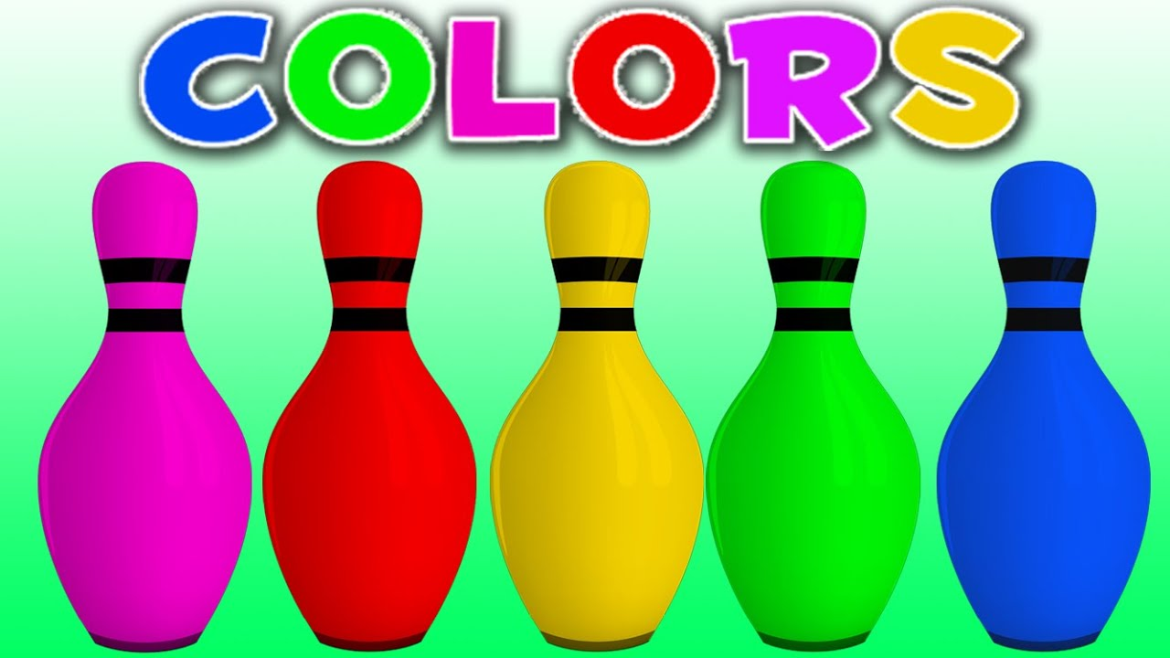 Learn Colors with Colors 3D Bowling Game | Learning Colors for ...