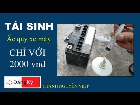 Mẹo Hay đơn Giản Tái Sinh ắc Quy Xe Máy recovery Accu  Việt Thành Vlog