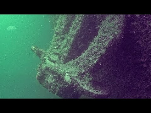 Затонувший корабль в Витязево