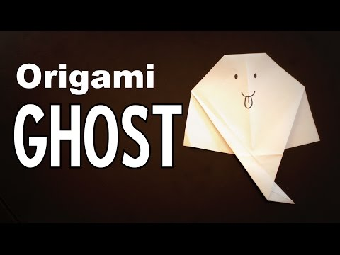 Origami - How to make a GHOST (Halloween decoration)