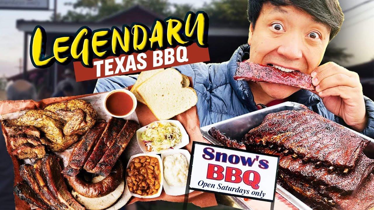 LEGENDARY TEXAS BBQ | FOUR HOURS Wait! Snow's BBQ