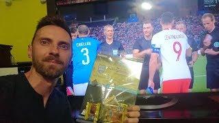 UNBOXING PODCZAS OGLĄDANIA MECZU WŁOCHY - POLSKA PANINI FIFA 365 2019