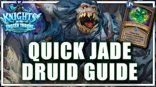 Quick Jade Druid Guide [20 - 3 Run to Legend]