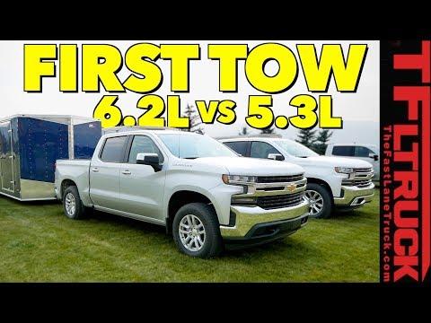 Compared: 2019 Chevy Silverado 1500 5.3L vs 6.2L V8 First Tow Review!