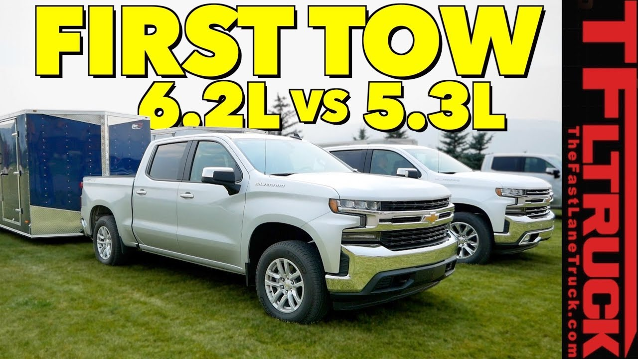 Silverado Towing Capacity >> Compared: 2019 Chevy Silverado 1500 5.3L vs 6.2L V8 First ...