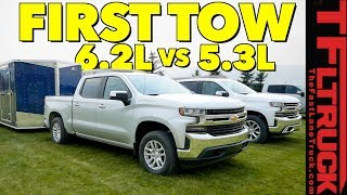 Compared: 2019 Chevy Silverado 1500 5.3L vs 6.2L V8 First Tow Review!