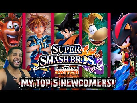 MY TOP 5 NEW CHARACTERS/NEWCOMERS FOR SUPER SMASH BROS ...