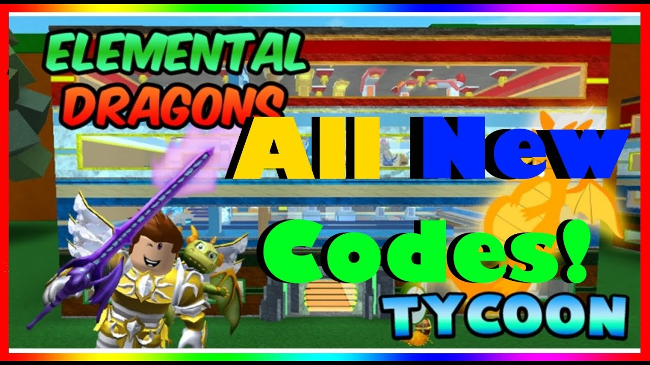 All New Codes For Elemental Dragons Tycoon Thunder Isle Update