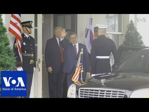 President Trump welcomes South Korean President Moon to the White House