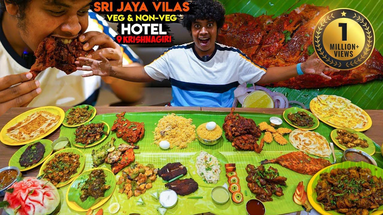 Non-Veg Feast in Banana Leaf - Sri Jaya Vilas - Vaniyambadi Biryani - Krishnagiri - Irfan's View