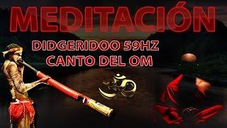 Canto de OM con didgeridoo 59Hz sonido creativo e intuitivo