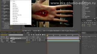 Эффект прострелянной руки в After Effects