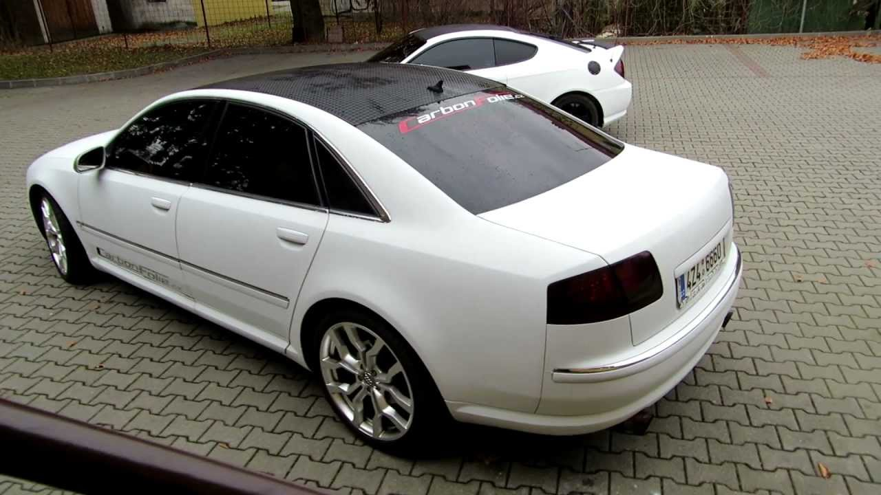Audi A8 4 2 V8 Exhaust Sound 3d White Carbon Vinyl Youtube