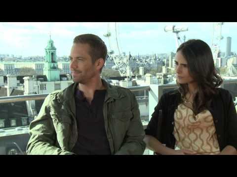 Fast & Furious 6 - Paul Walker & Jordan Brewster Interview Part 1