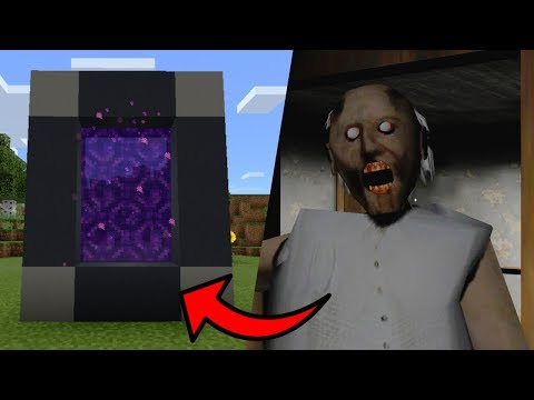 How To Make a Portal to the GRANNY Dimension in Minecraft PE
