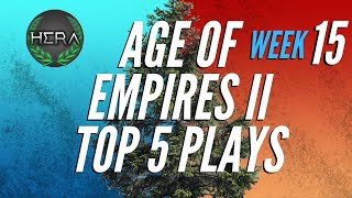 Age of Empires 2 Top 5 Plays   Ep. 15   6 December 2019