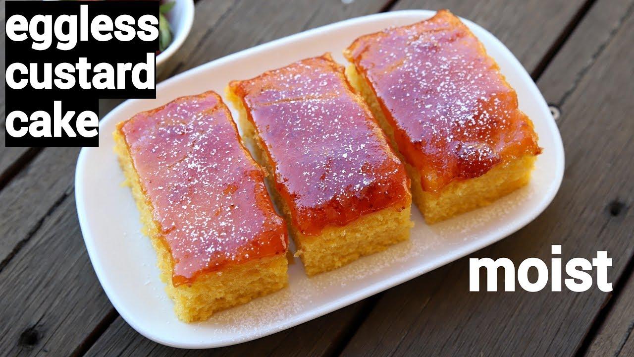 Custard Cake Recipe Eggless Custard Cream Cake Custard Powder Cake