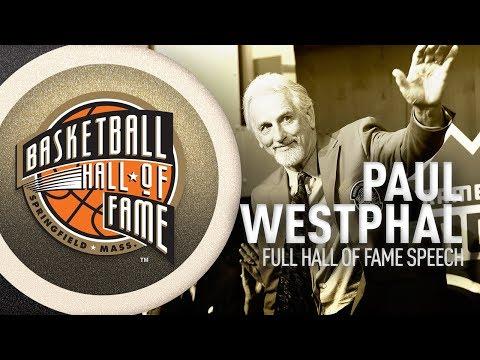 Paul Westphal   Hall of Fame Enshrinement Speech