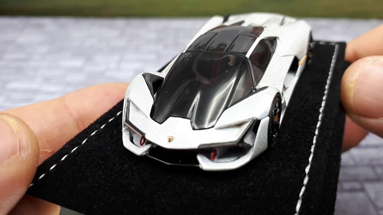 Download 1/64 Lamborghini Terzo Millenio white by MR Collection resin